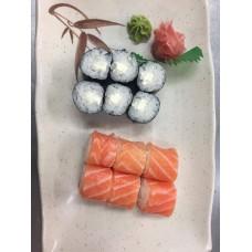 JM24 MENU JAPONAIS (6 Saumon Roll Cheese & 6 Maki Cheese)